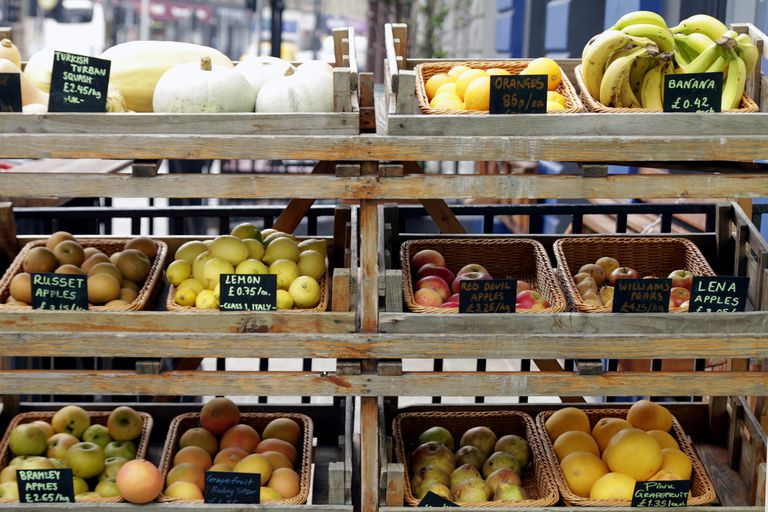 Fresh fruits on market stall