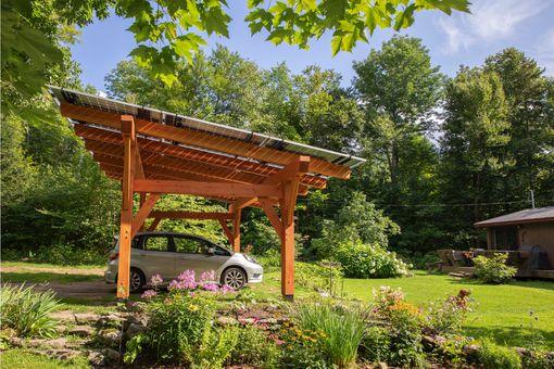 Suncommons solar canopy shelter