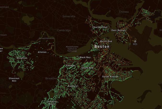Map of Boston, Treepedia