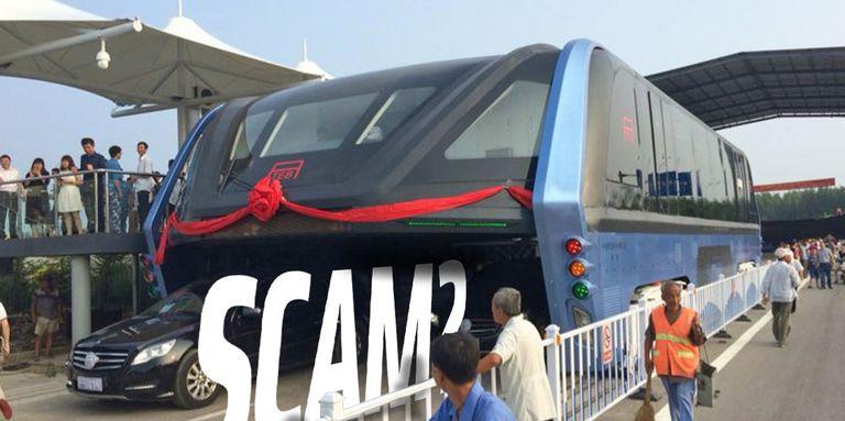 ¿Es el autobús chino a horcajadas un fraude y una estafa? Espera y verás.