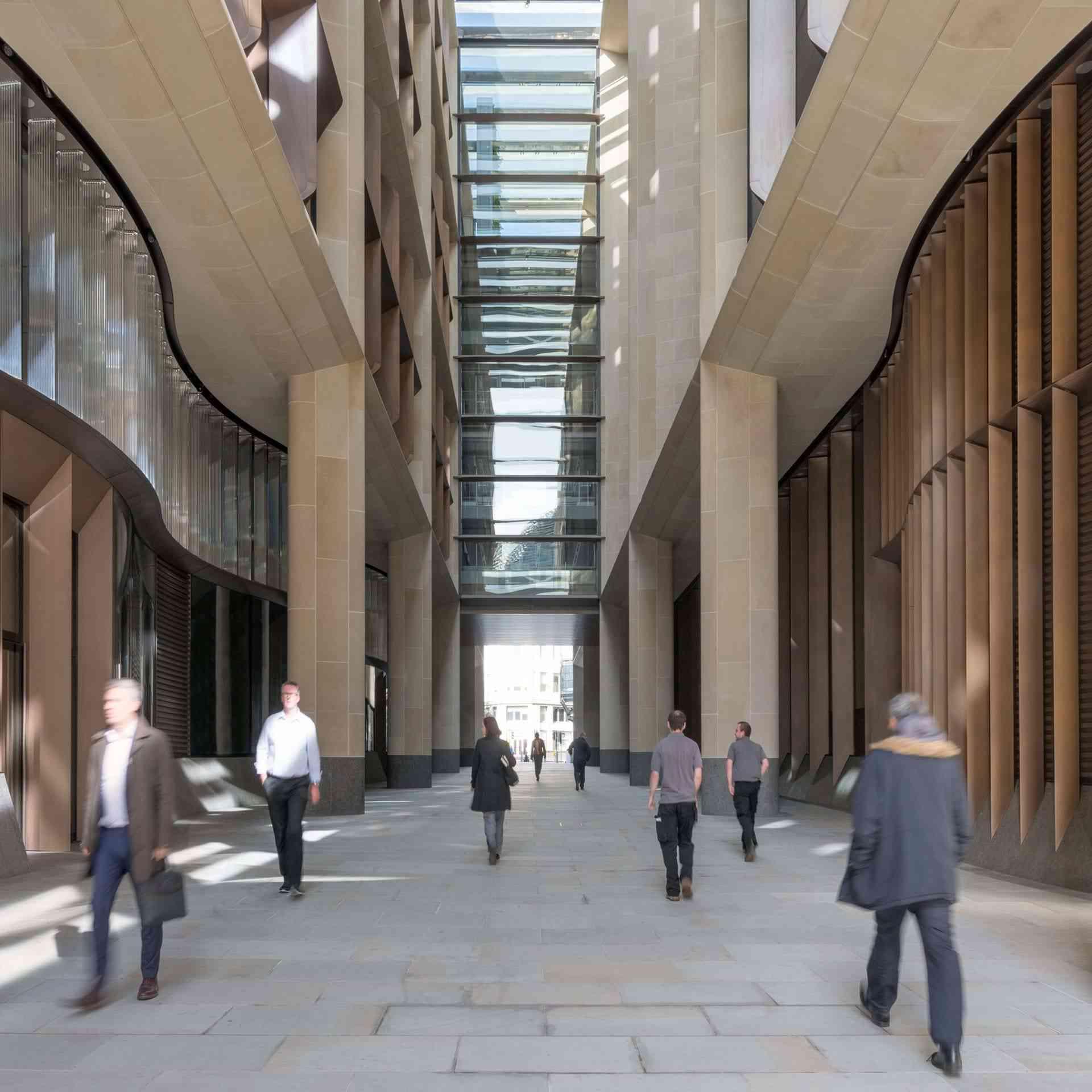 Bloomberg walkway