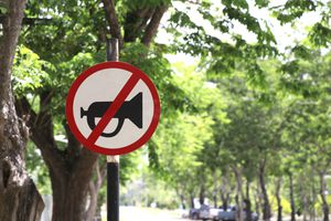 Signs that do not use horn horns in this area.