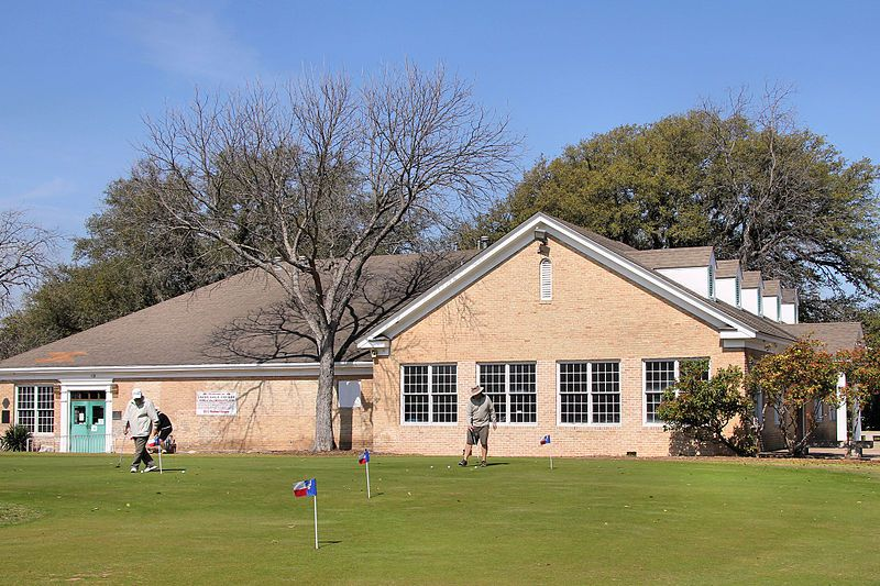 Clubhouse at Lions Municipal Golf Course in Austin, Texas