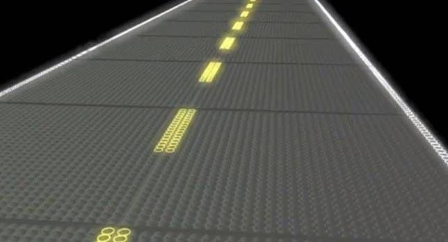 Lit up Solar Roadway