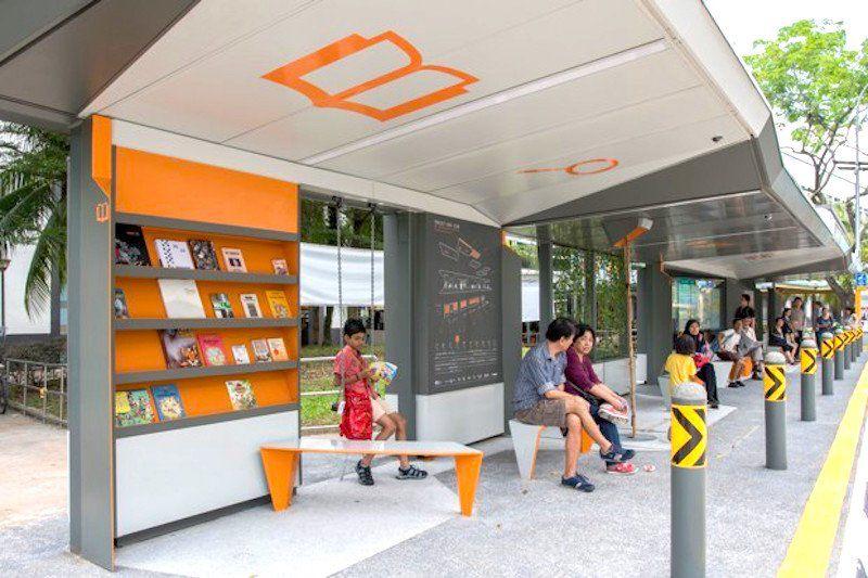 High-tech Singaporean bus stop