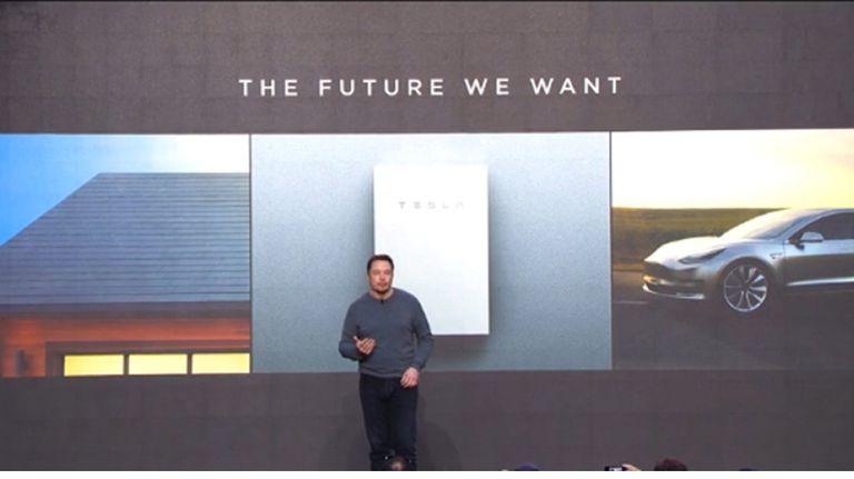 Elon Musk announcing solar shingles