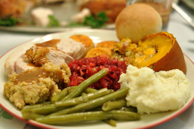 A full thanksgiving plate
