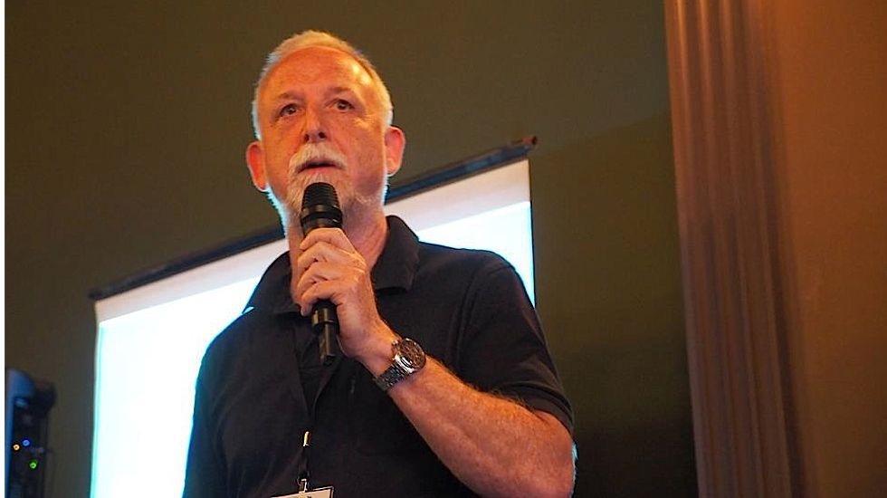 Charles Wolfe speaking in Buffalo