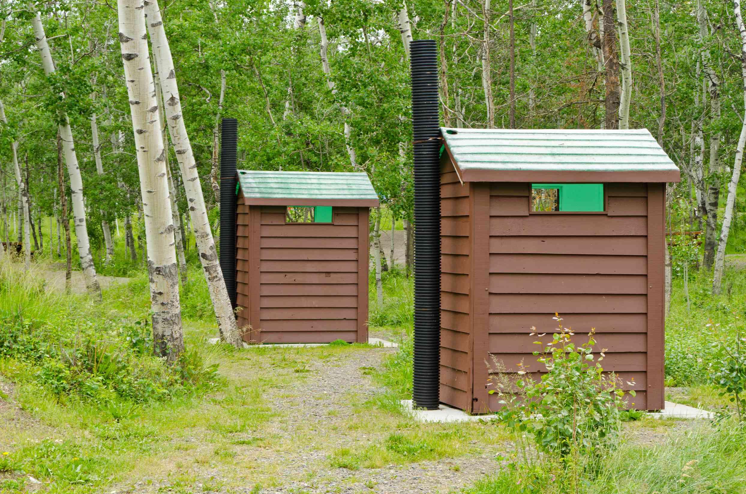 Pit toilets