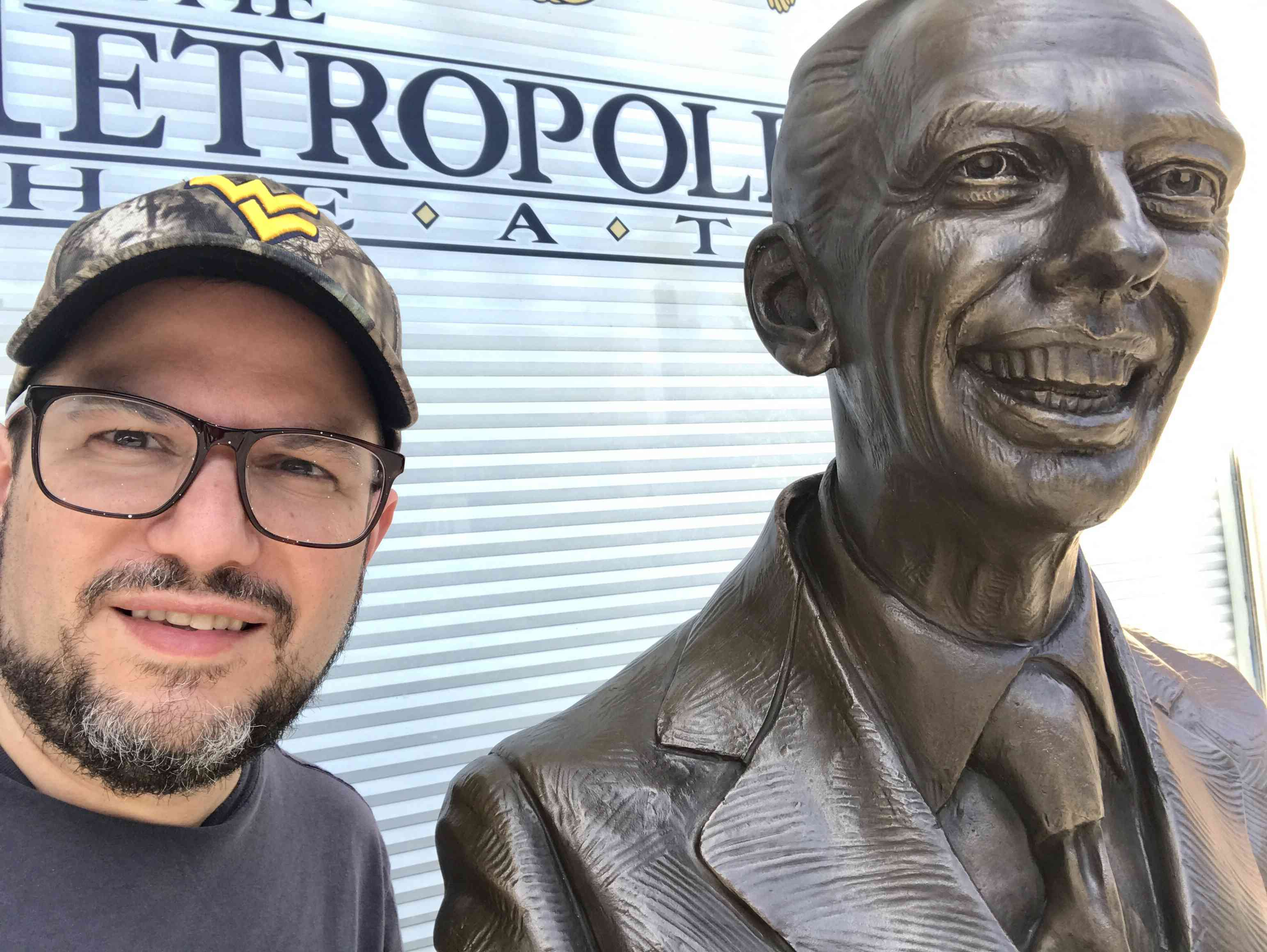A statue of Don Knotts was recently installed in front of the Metropolitan Theater on High Street, and it's the perfect spot for selfies.