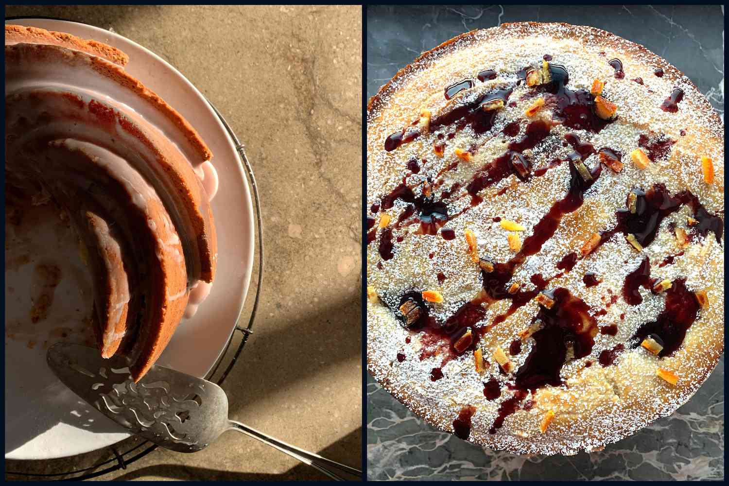 two kinds of cake