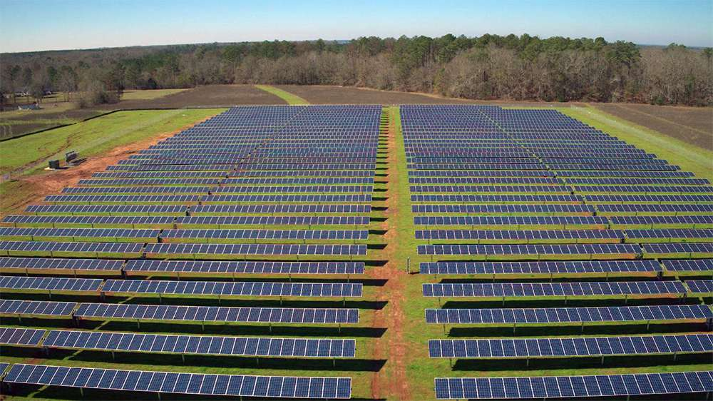 The new 1.3MW solar array will provide over 50% of the power needs of the City of Plains.