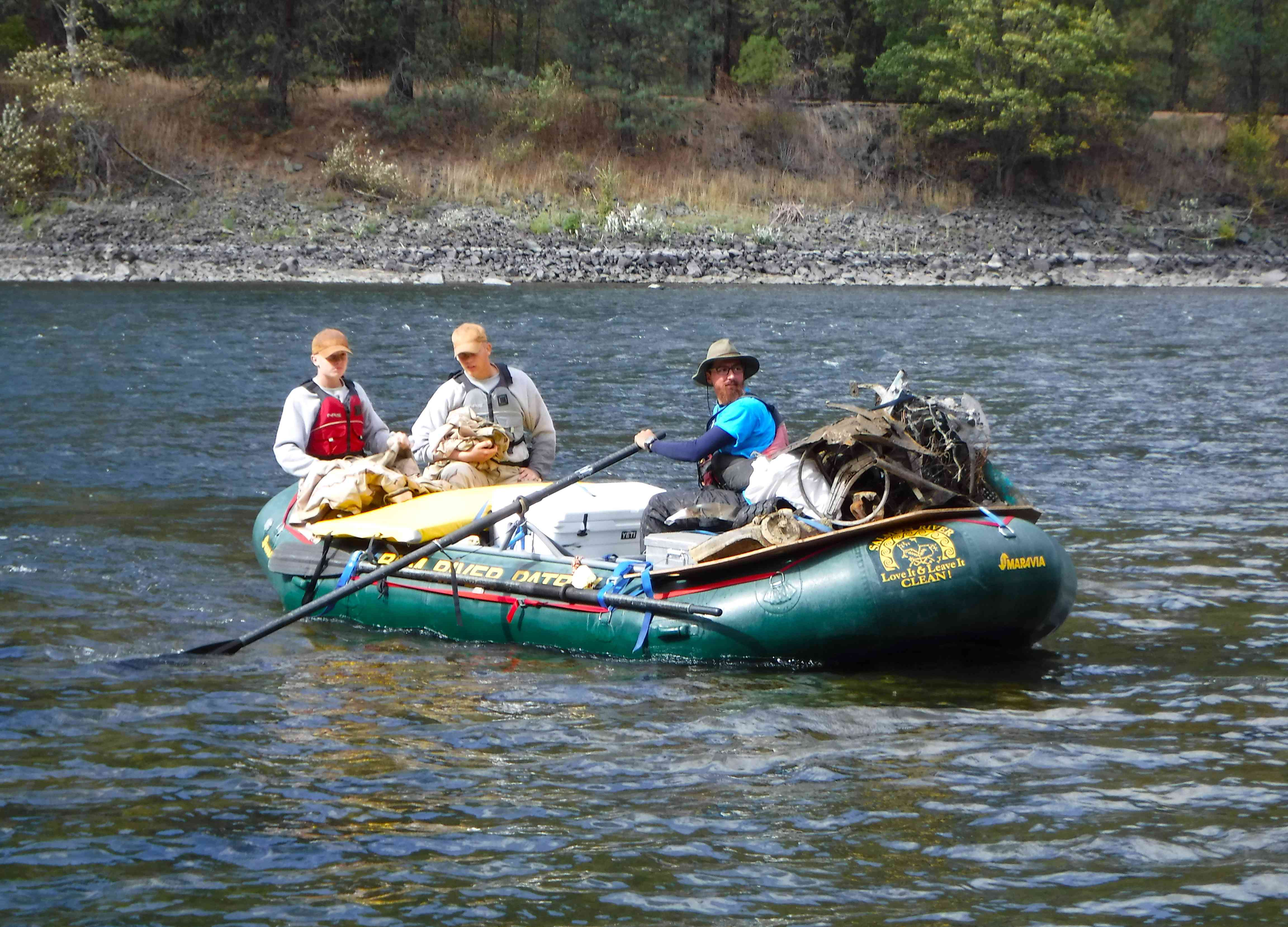 river cleanup at Clearwater River, Idaho