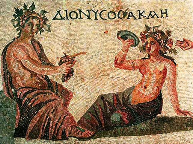 A mosiac from a House of Dionysus in Paphos, Greece