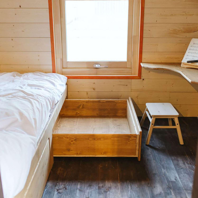 idle tiny house child's room