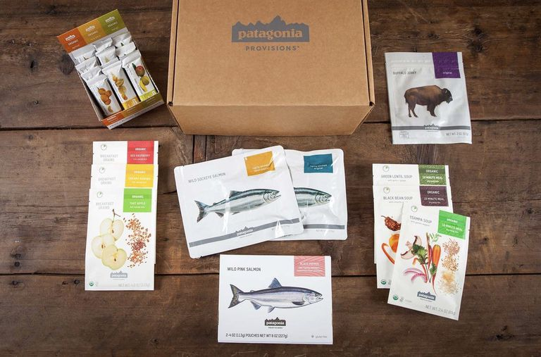 Box of Patagonia Provisions products