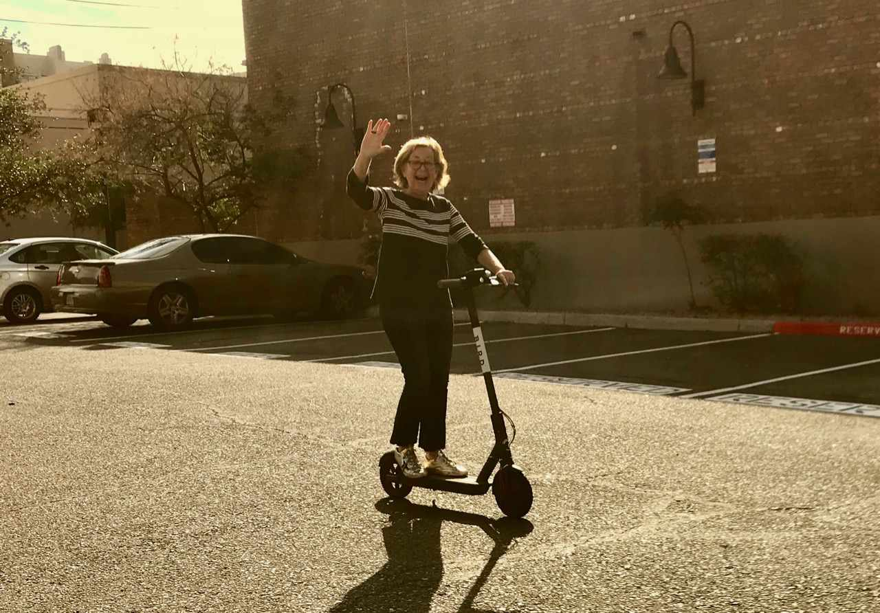 Bonnie on scooter
