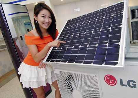 lg hybrid solar air conditioner photo