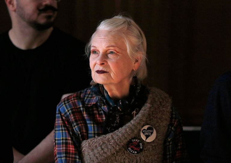 Dame Vivienne Westwood watching rehearsals of a fashion show