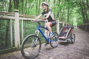 Biking with a bike trailer