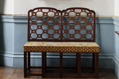 Double Chippendale library chair with a secret function.