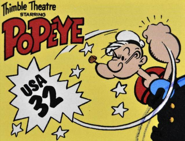 Popeye comic book cover