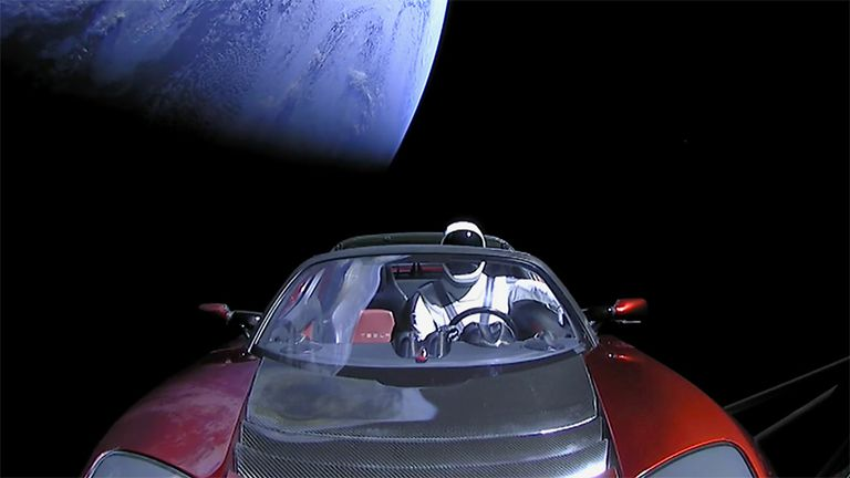 As incredible as it seems, there's now a Tesla Roadster in space. Next stop: Mars. No roads required.