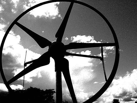 swift wind turbine close-up photo