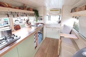 The Dandy Bus conversion interior