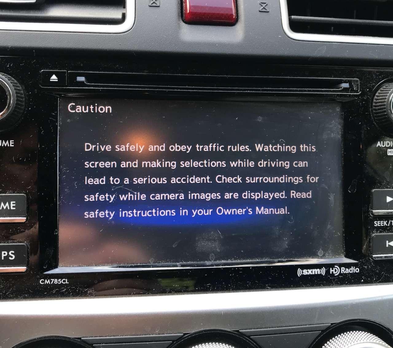 car warning message