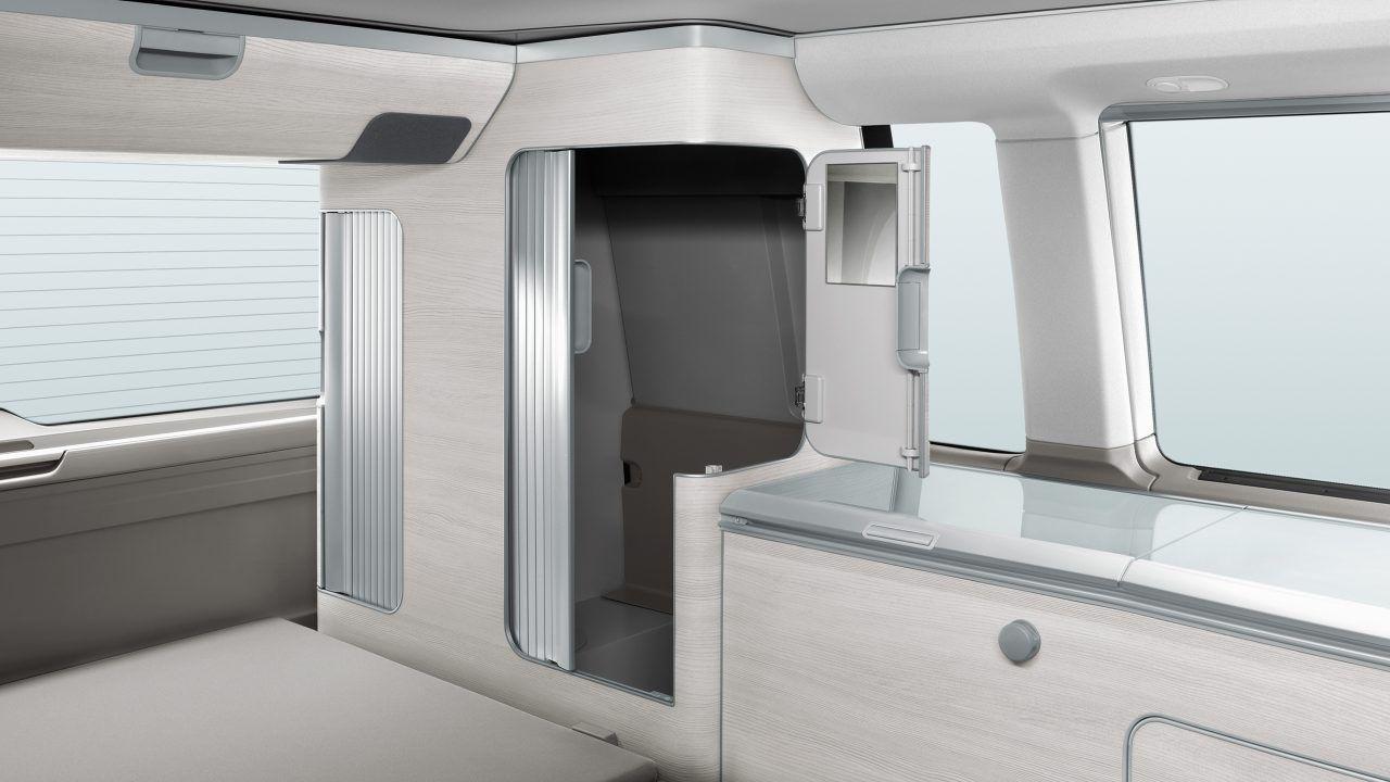 View of storage close inside of van