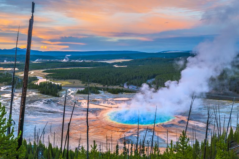Grand Prismatic Geyser from above