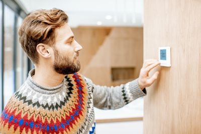sweater and thermostat