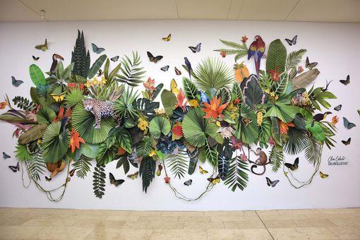 Paper cut artworks by Clare Celeste