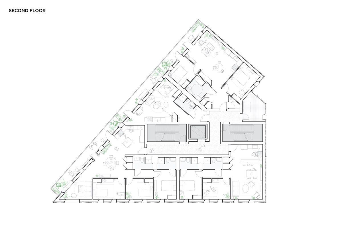 fourth floor plan boston building