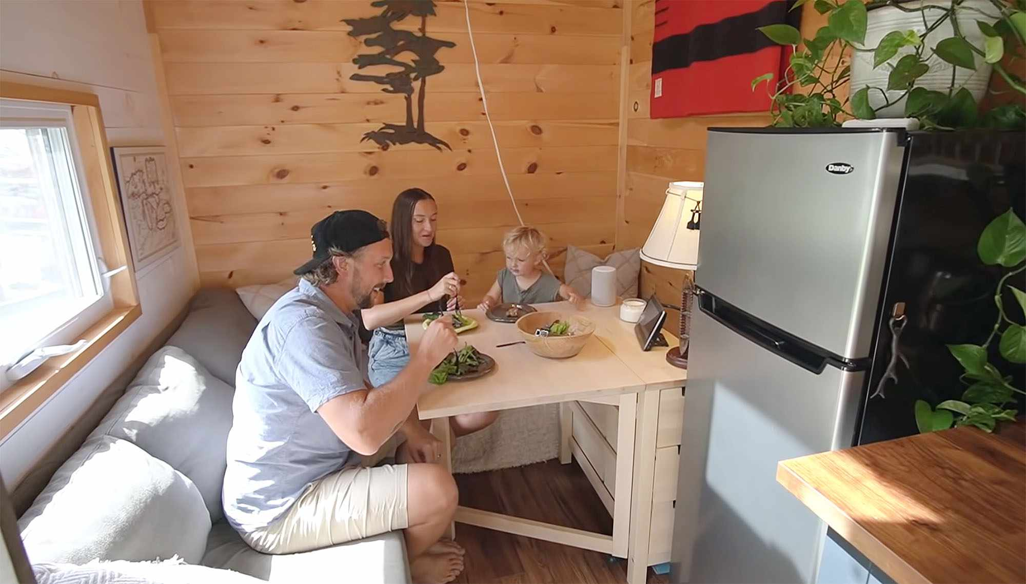 Giving Tree Family tiny house dining table out