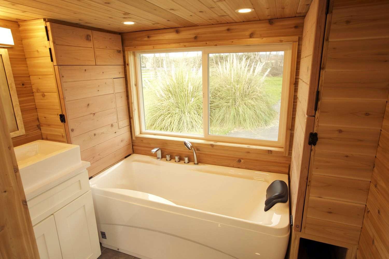 Genius Tiny House Has a Full Bath and Sauna