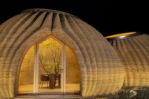 TECLA 3D printed earth house Mario Cucinella WASP exterior