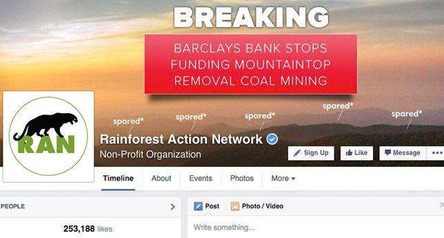 Rainforest Action Network on Facebook