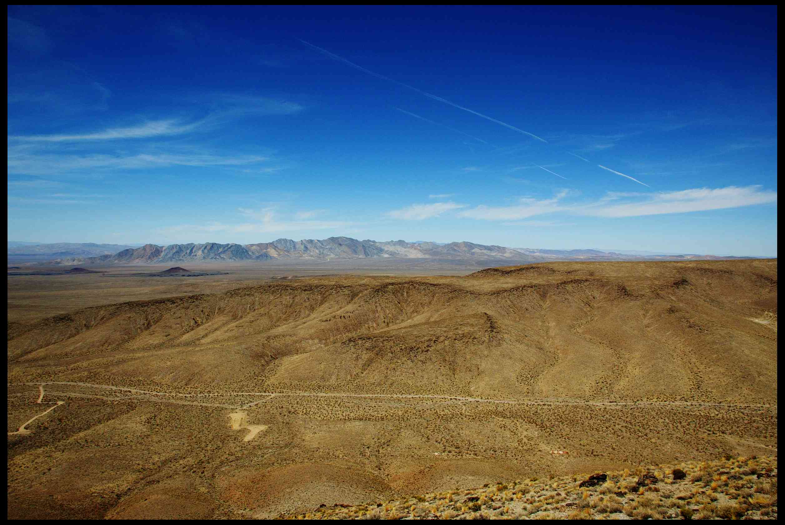 The view from the top of the Yucca Mountain Nuclear Waste Repository in Nevada