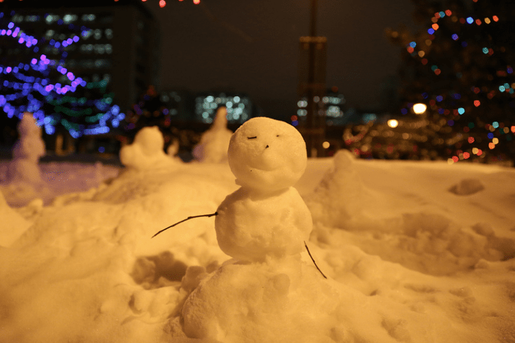 Snowman in Edmonton, Alberta