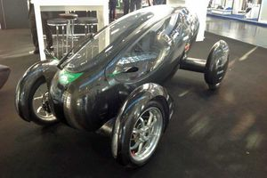 Concept of a future car is a glass and chrome one seater