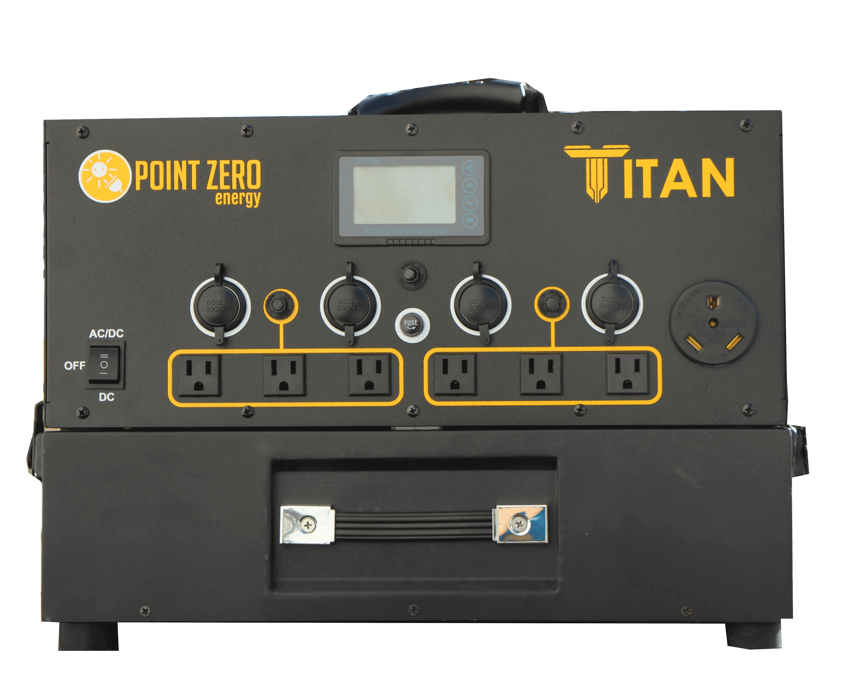 Point Zero Energy Titan Solar Generator