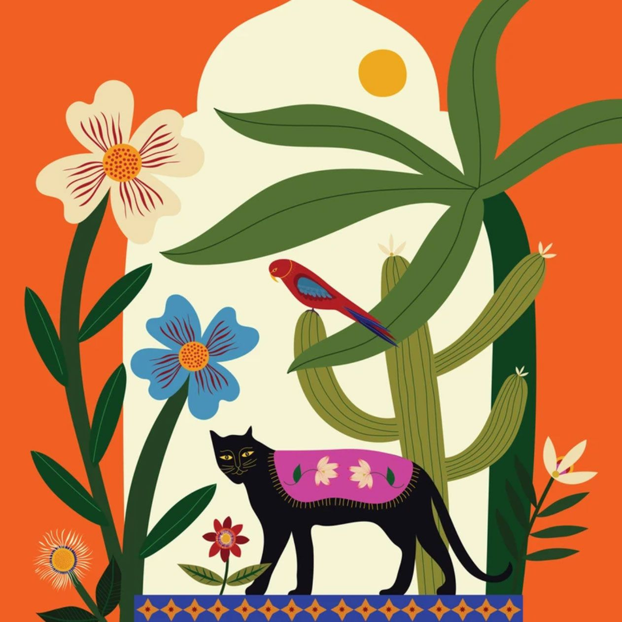 Print by San Diego artist Maheswari Janarthanan