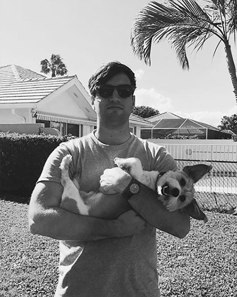 Nick and a dog