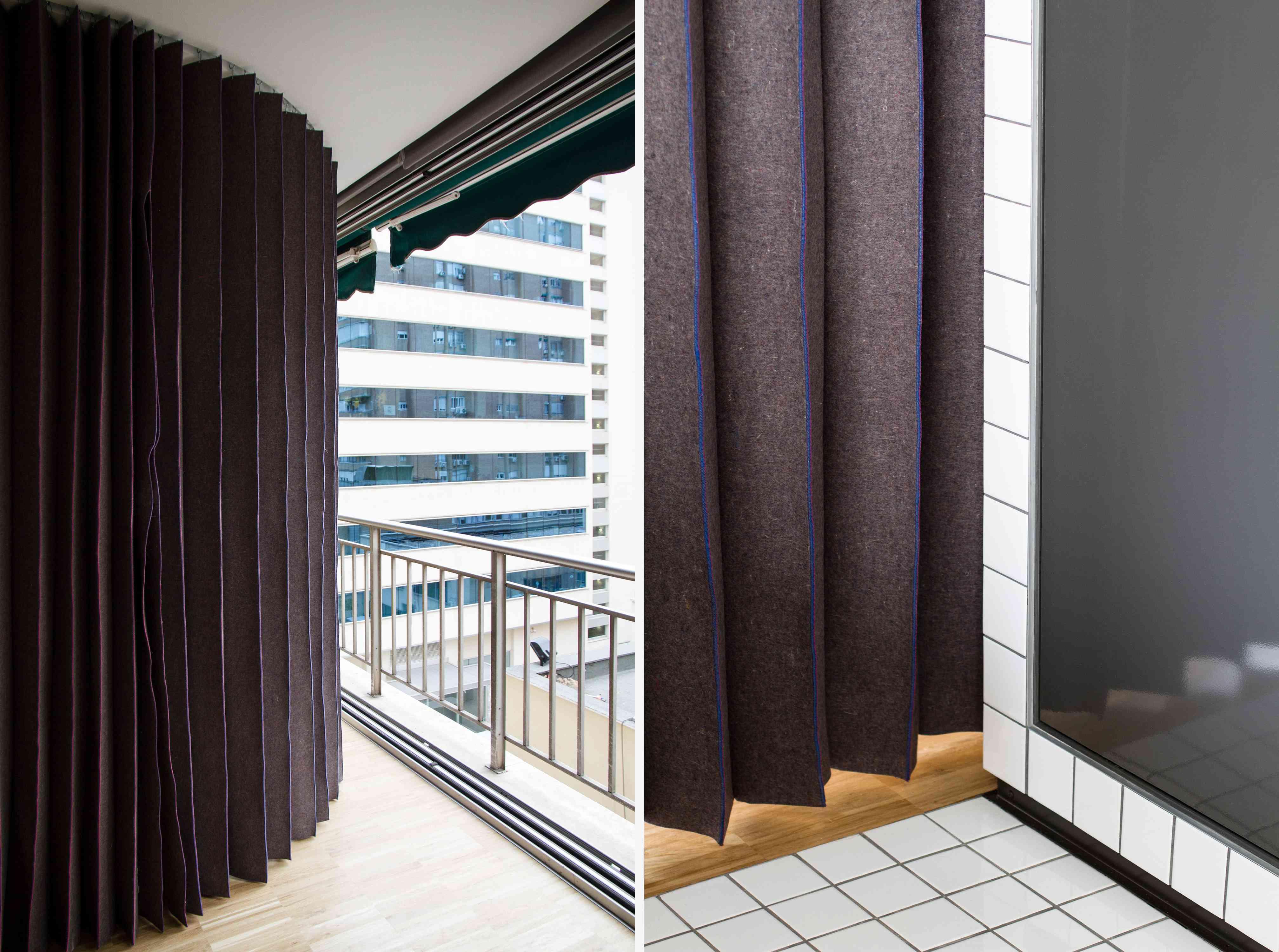 JM55 microapartment renovation by BURR Studio curtain