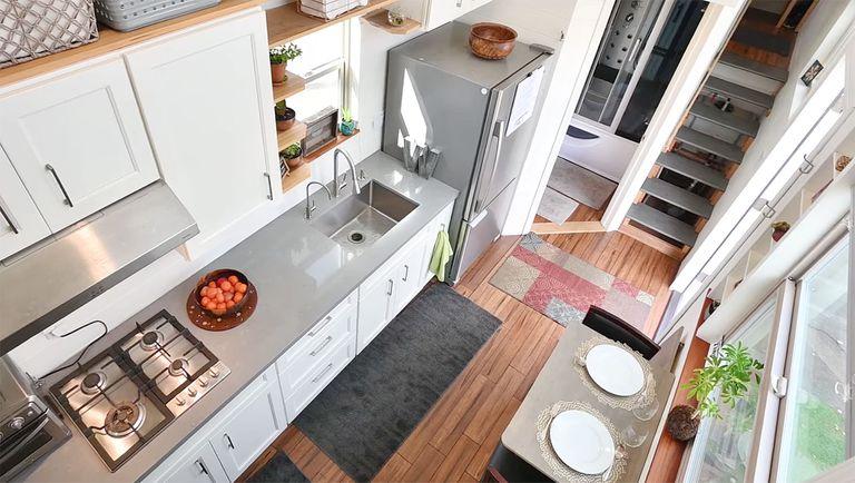 Sierra tiny home by Experience Tiny Homes interior