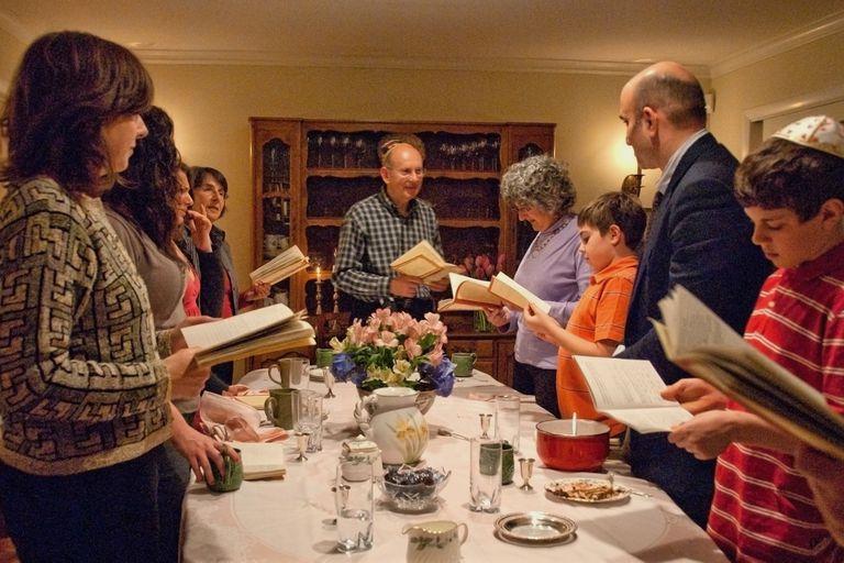 Passover family dinner