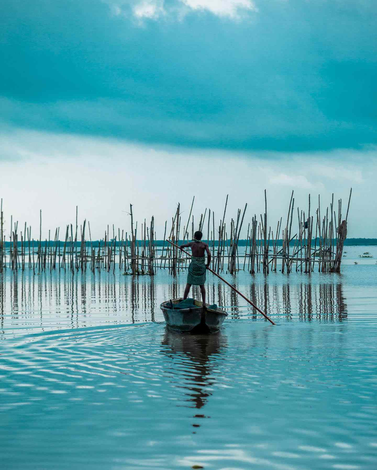 boy on boat in Epe lagoon