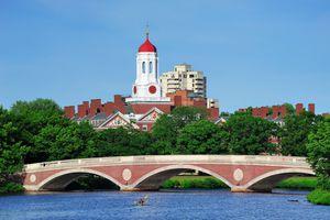 Harvard University clock tower